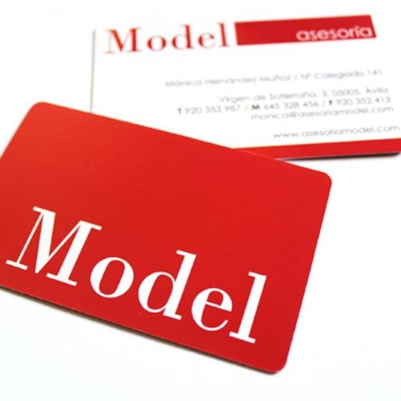 Tarjetas de visita Asesoría Model